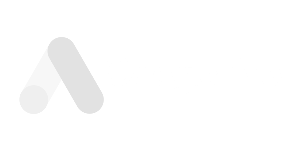 Logotipo de Google Ads en blanco